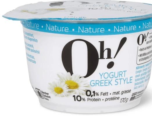 Oh! Yogurt Greek style Nature