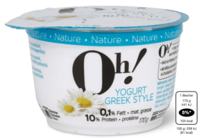 Oh! Yogurt Greek style Nature: Migros