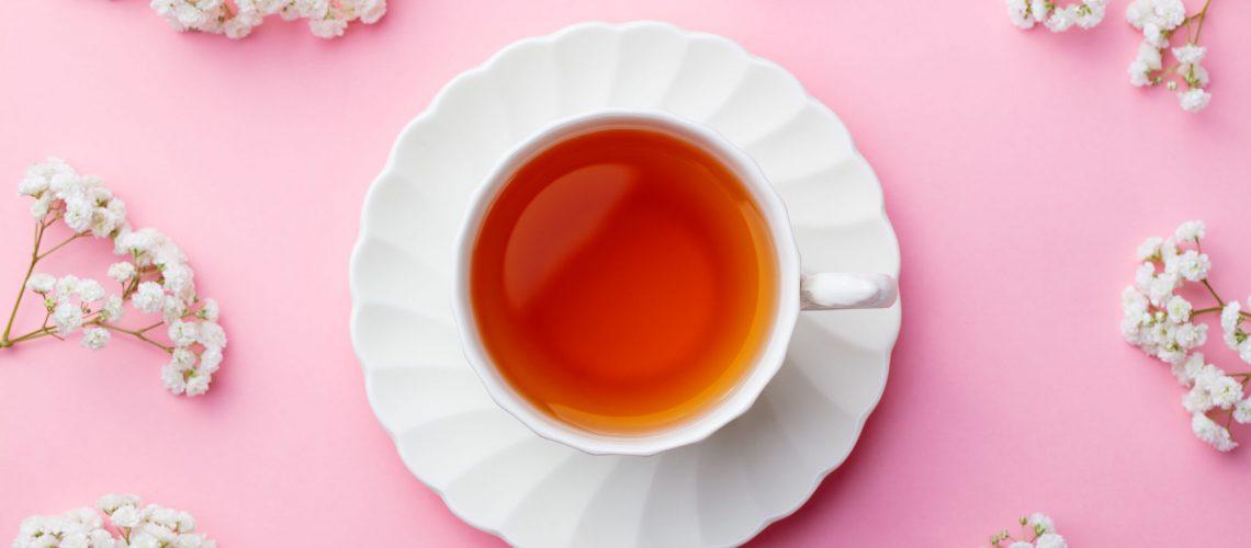 Tee trinken, im Winter Tee trinken